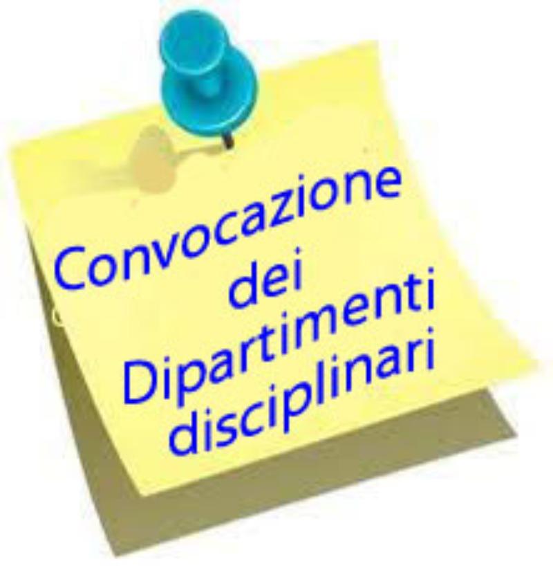 Convocazione riunioni dipartimenti